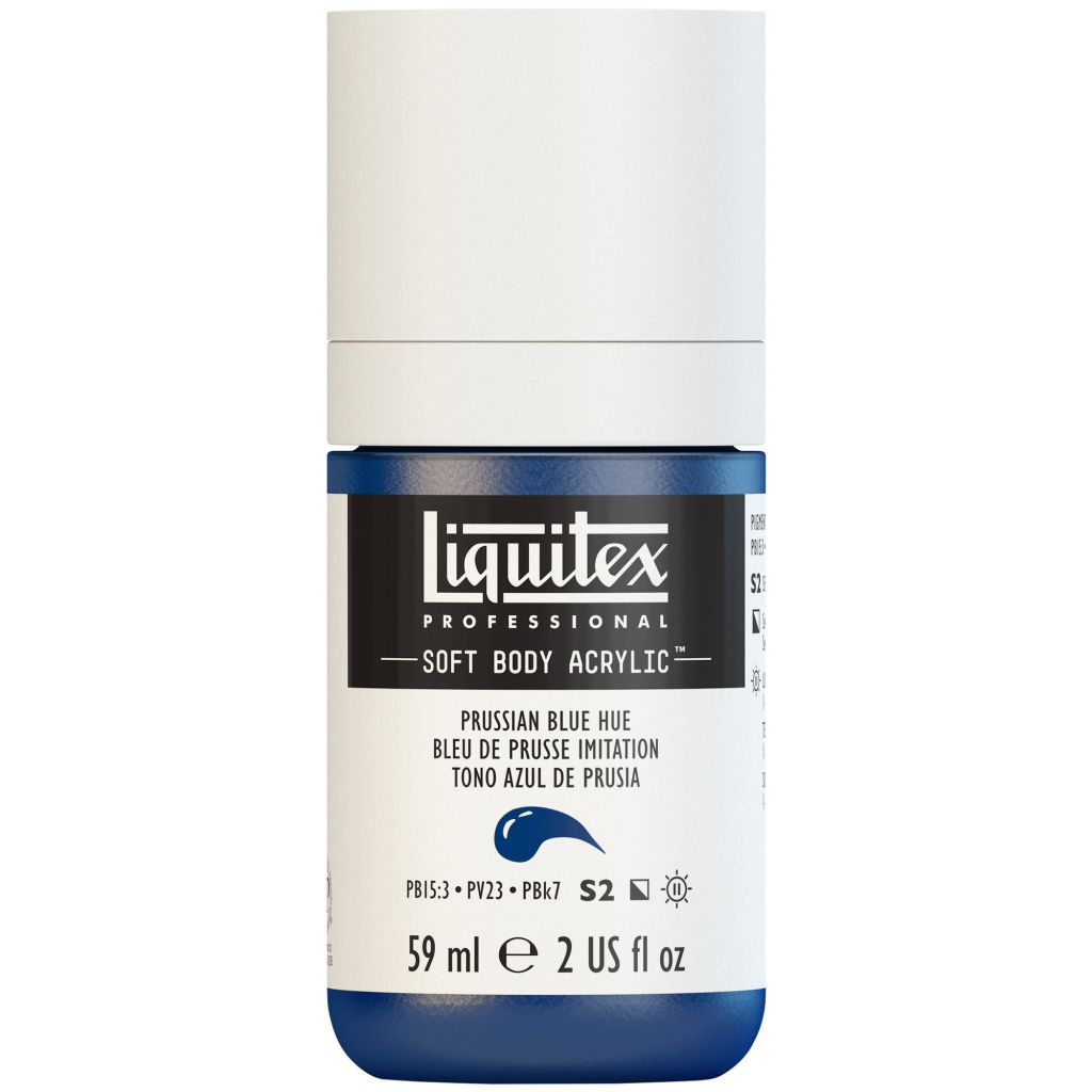 LIQUITEX SOFT BODY ACRYLIC 59ML BLEU DE PRUSSE IMITATION