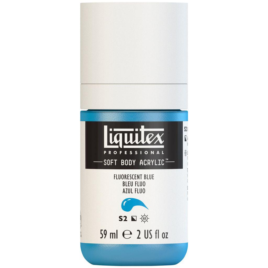 LIQUITEX SOFT BODY ACRYLIC 59ML BLEU FLUORESCENT S2