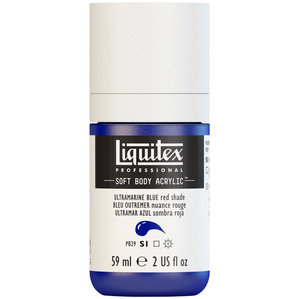 LIQUITEX SOFT BODY ACRYLIC 59ML BLEU OUTREMER (NUANCE ROUGE) S1