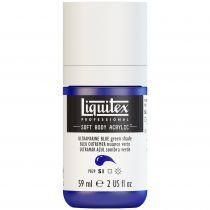 LIQUITEX SOFT BODY ACRYLIC 59ML BLEU OUTREMER (NUANCE VERTE) S1