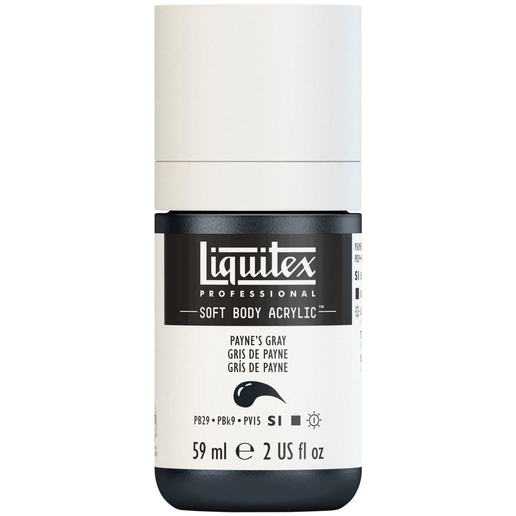 LIQUITEX SOFT BODY ACRYLIC 59ML GRIS DE PAYNE