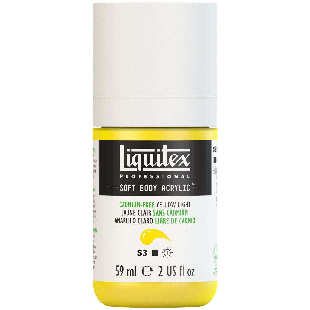 LIQUITEX SOFT BODY ACRYLIC 59ML JAUNE CLAIR SANS CADMIUM