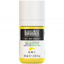 LIQUITEX SOFT BODY ACRYLIC 59ML JAUNE CLAIR SANS CADMIUM