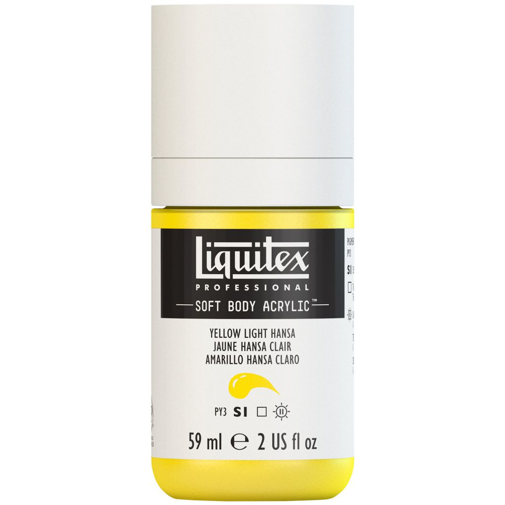 LIQUITEX SOFT BODY ACRYLIC 59ML JAUNE HANSA CLAIR