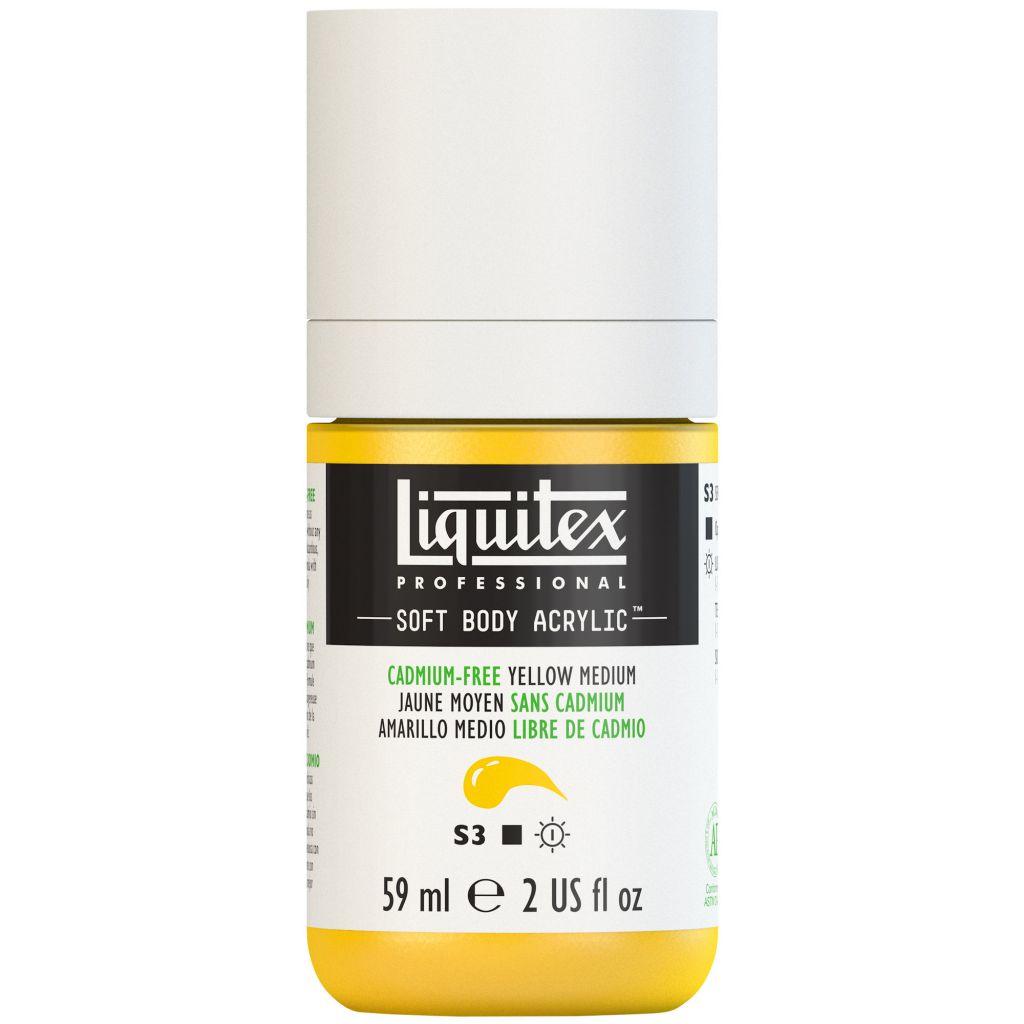 LIQUITEX SOFT BODY ACRYLIC 59ML JAUNE MOYEN SANS CADMIUM S3