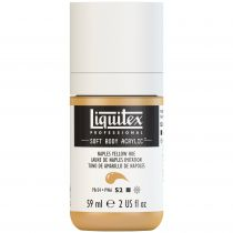 LIQUITEX SOFT BODY ACRYLIC 59ML JAUNE NAPLES IMITATION