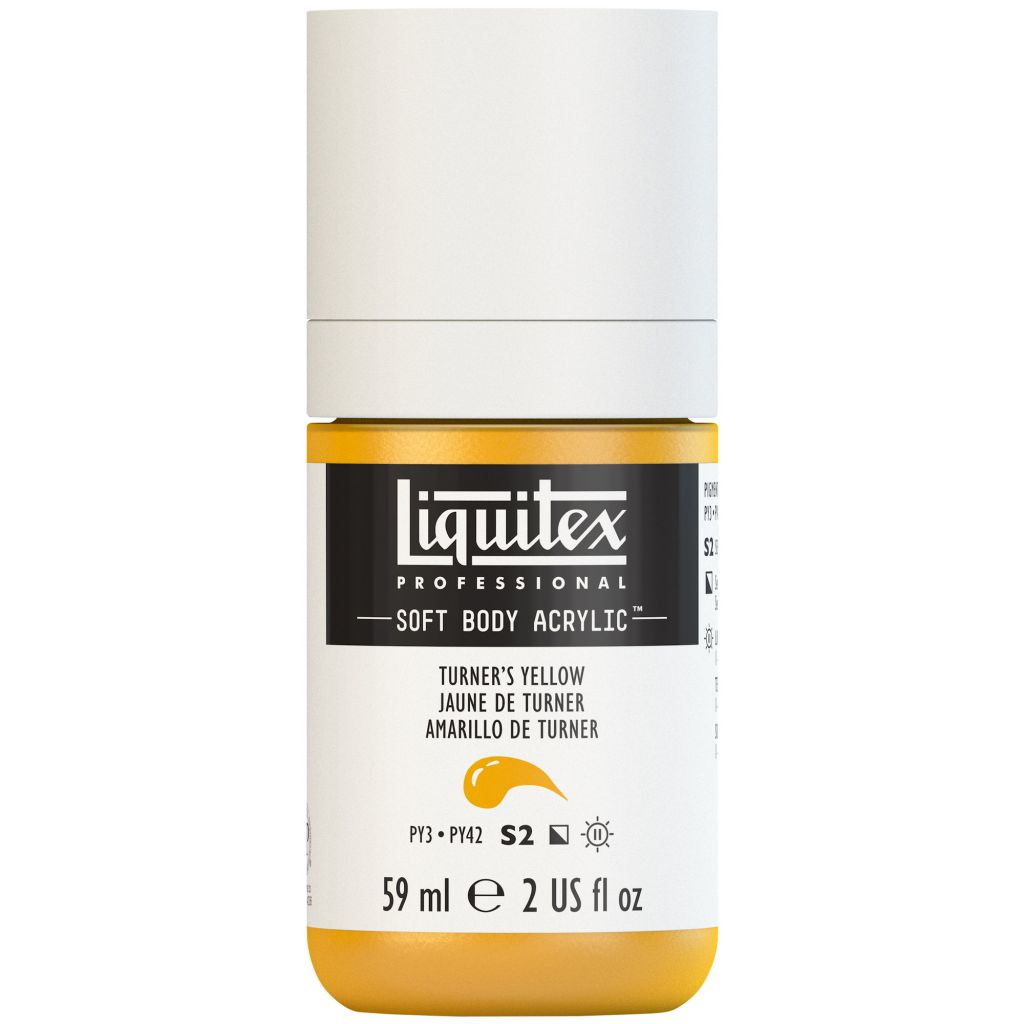LIQUITEX SOFT BODY ACRYLIC 59ML JAUNE TURNER