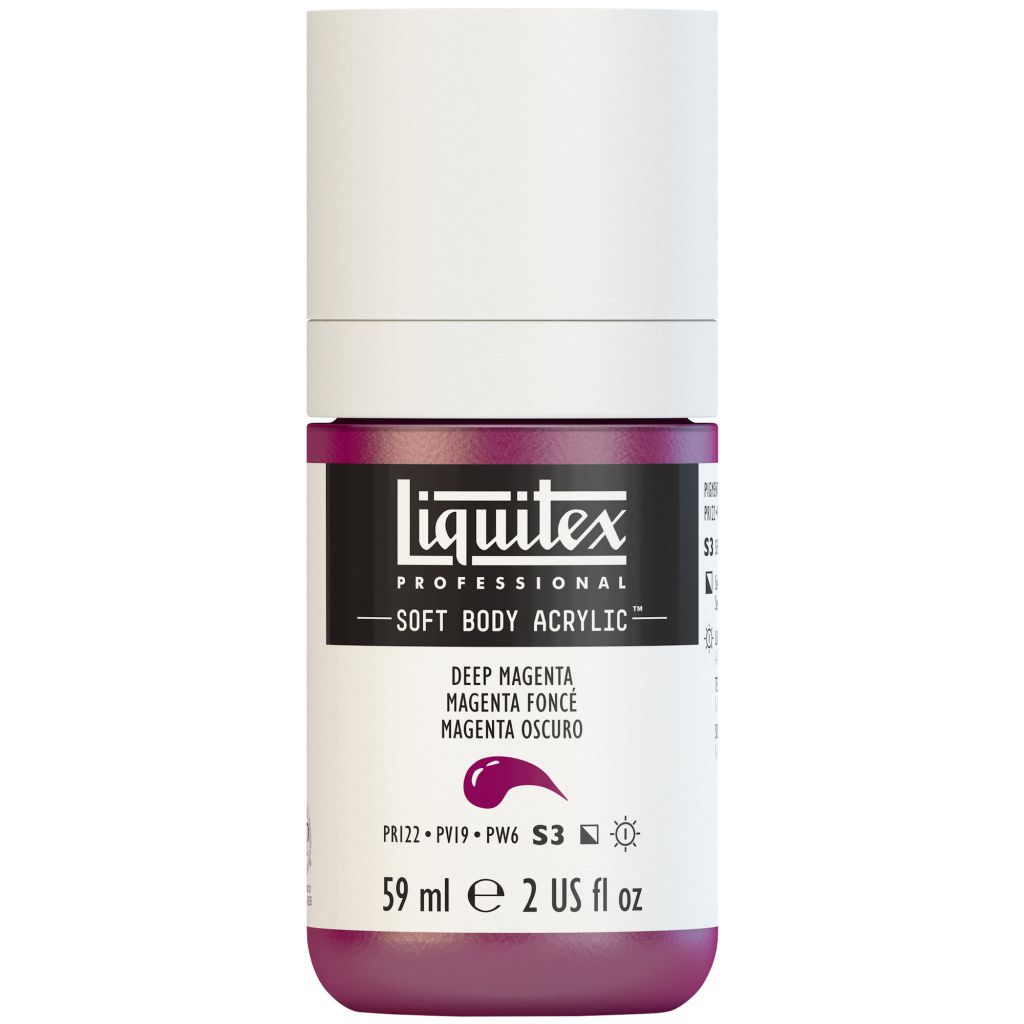 LIQUITEX SOFT BODY ACRYLIC 59ML MAGENTA FONCE