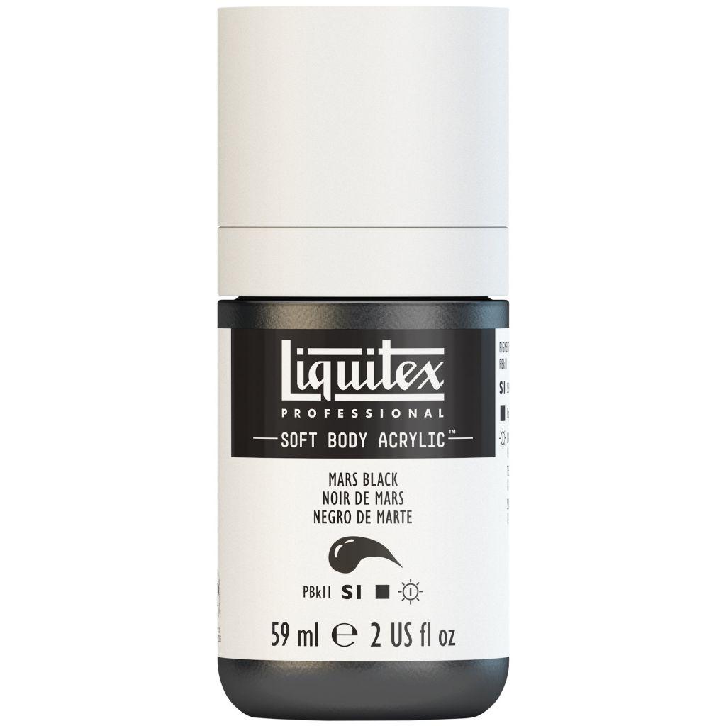 LIQUITEX SOFT BODY ACRYLIC 59ML NOIR DE MARS
