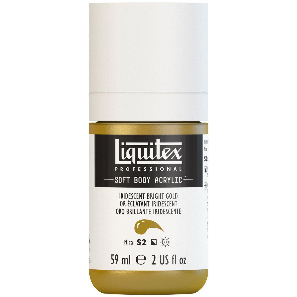 LIQUITEX SOFT BODY ACRYLIC 59ML OR IRIDESCENT