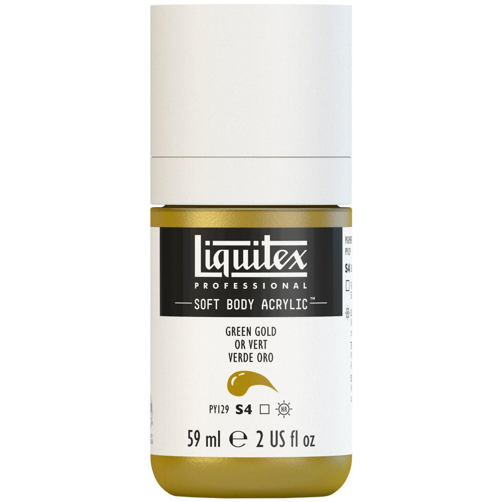 LIQUITEX SOFT BODY ACRYLIC 59ML OR VERT