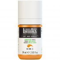 LIQUITEX SOFT BODY ACRYLIC 59ML ORANGE SANS CADMIUM