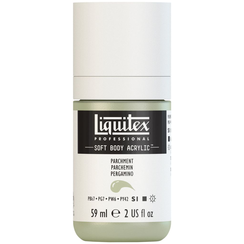 LIQUITEX SOFT BODY ACRYLIC 59ML PARCHEMIN