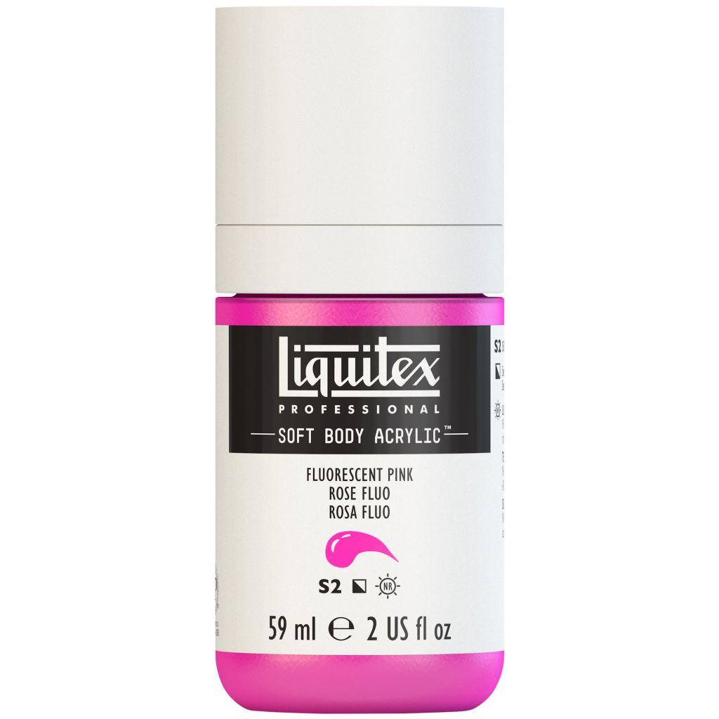 LIQUITEX SOFT BODY ACRYLIC 59ML ROSE FLUORESCENT