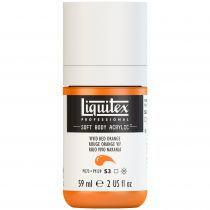 LIQUITEX SOFT BODY ACRYLIC 59ML ROUGE ORANGE VIF
