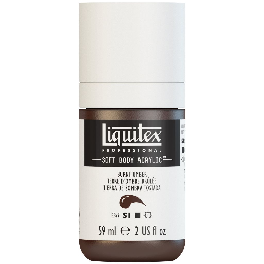 LIQUITEX SOFT BODY ACRYLIC 59ML TERRE OMBRE BRULEE