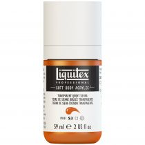 LIQUITEX SOFT BODY ACRYLIC 59ML TERRE SIENNE BRULEE TRANSPARENTE