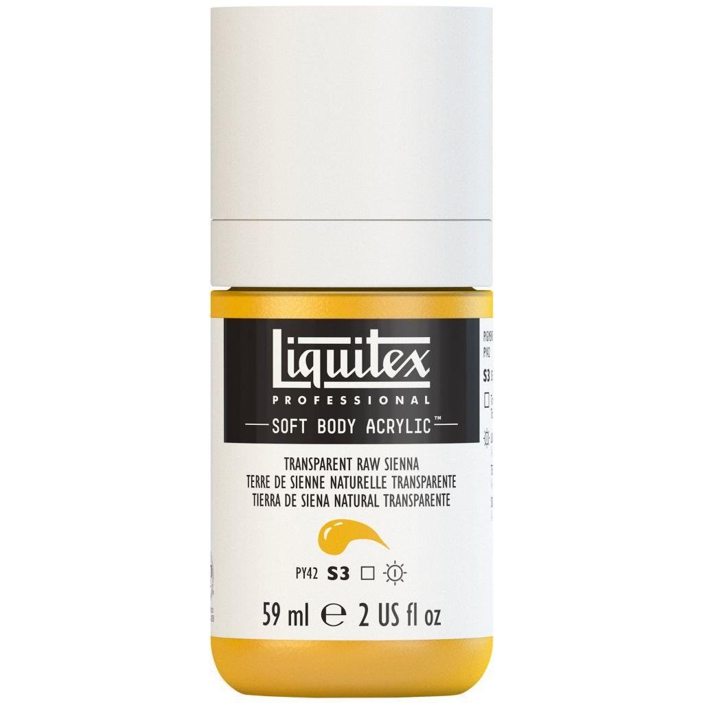 LIQUITEX SOFT BODY ACRYLIC 59ML TERRE SIENNE NATURELLE TRANSPARENTE S3