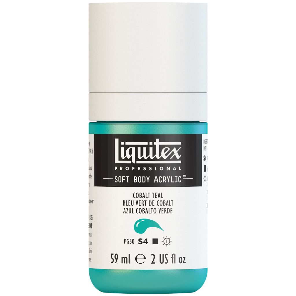 LIQUITEX SOFT BODY ACRYLIC 59ML VERT COBALT PALE