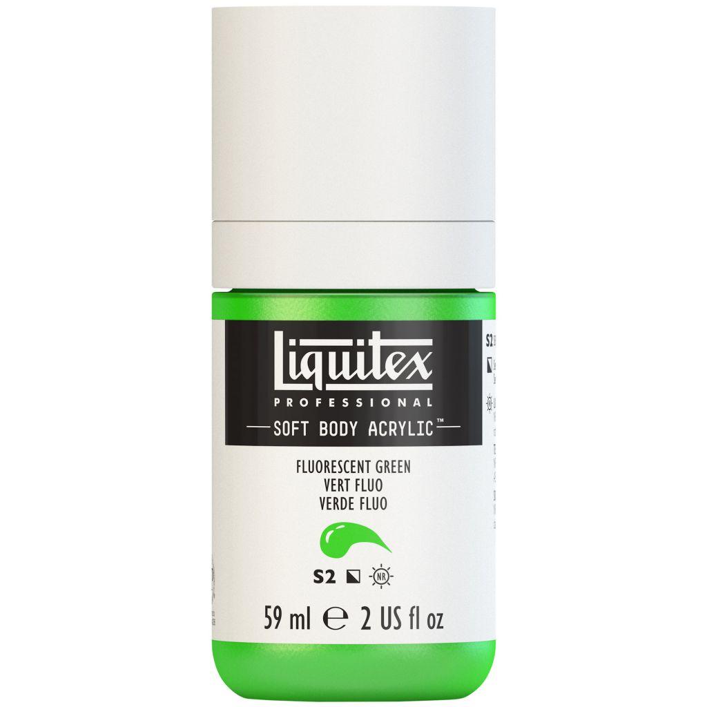 LIQUITEX SOFT BODY ACRYLIC 59ML VERT FLUORESCENT S2