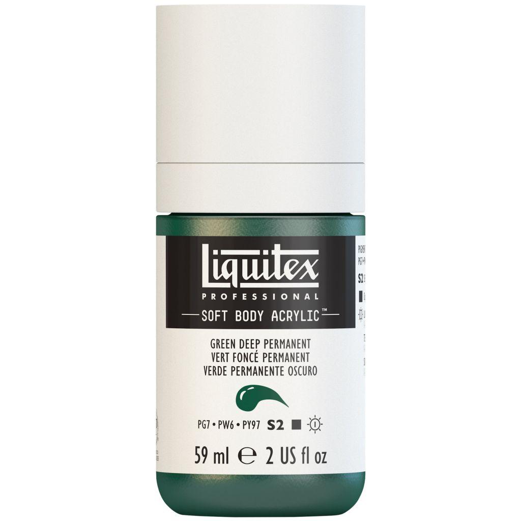 LIQUITEX SOFT BODY ACRYLIC 59ML VERT FONCE