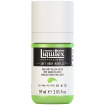 LIQUITEX SOFT BODY ACRYLIC 59ML VERT JAUNE BRILLANT