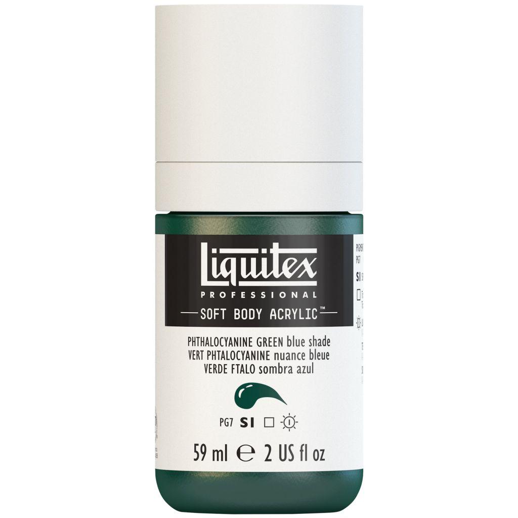 LIQUITEX SOFT BODY ACRYLIC 59ML VERT PHTALOCYANINE (NUANCE BLEUE) S1