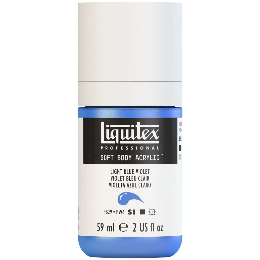 LIQUITEX SOFT BODY ACRYLIC 59ML VIOLET BLEU CLAIR S1
