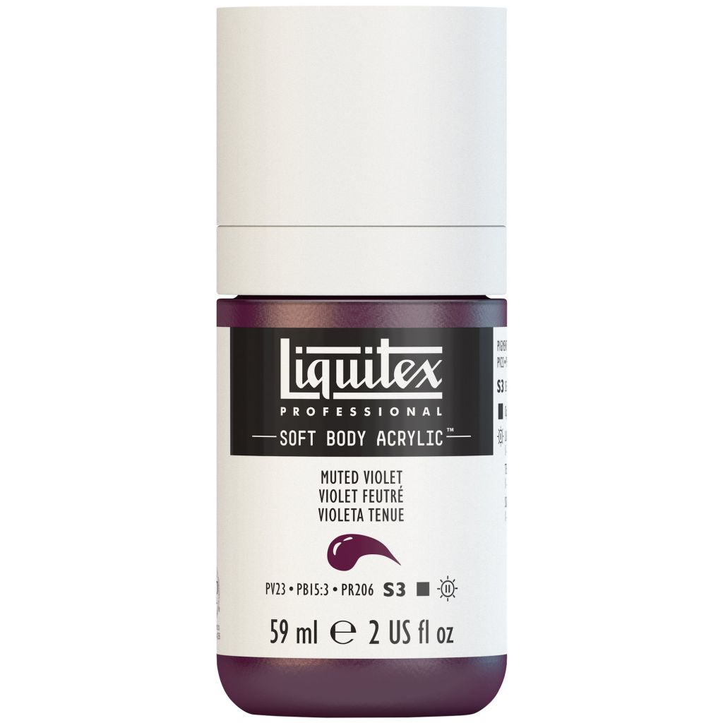 LIQUITEX SOFT BODY ACRYLIC 59ML VIOLET FEUTRÉ