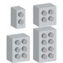 LOT DE 4 MOULES JEUX DE CONSTRUCTION SAVONS