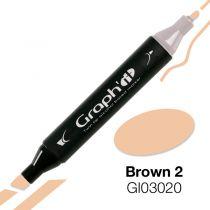 MARQUEUR GRAPH\'IT BROWN 2 3020