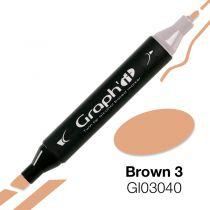 MARQUEUR GRAPH\'IT BROWN 3 3040