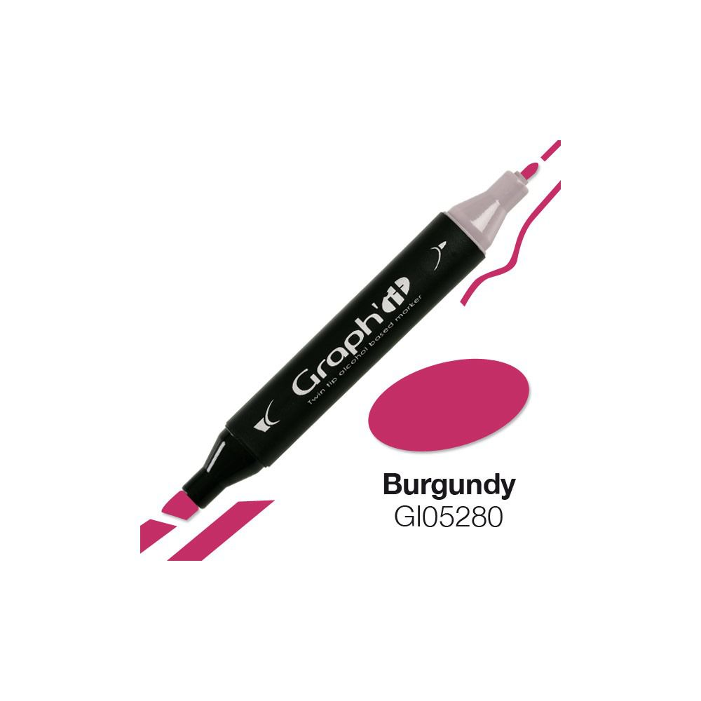 MARQUEUR GRAPH\'IT BURGUNDY 5280