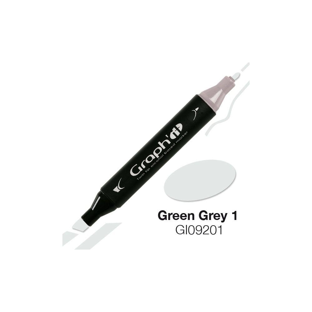 MARQUEUR GRAPH\'IT GREEN GREY 1 9201