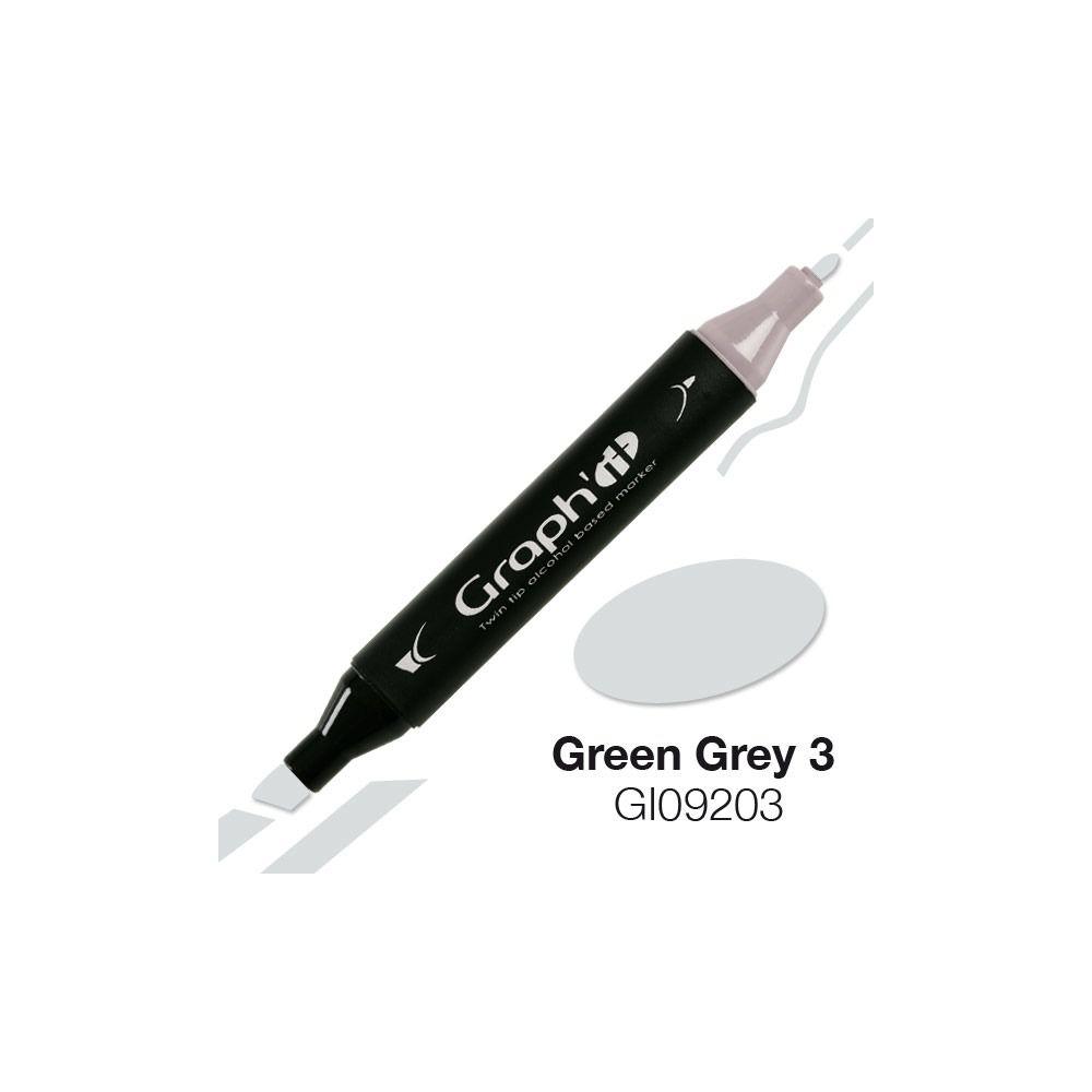 MARQUEUR GRAPH\'IT GREEN GREY 3 9203