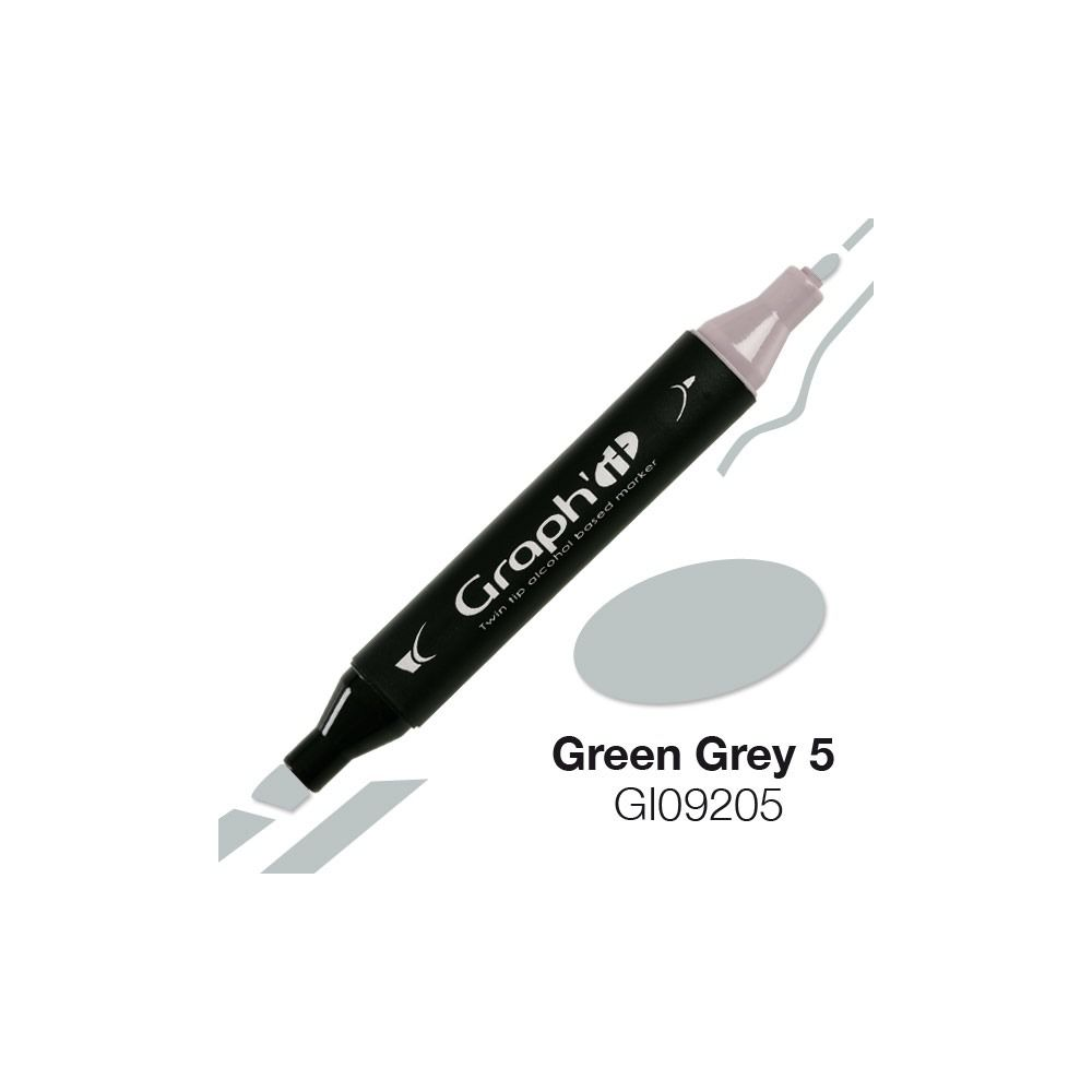 MARQUEUR GRAPH\'IT GREEN GREY 5 9205
