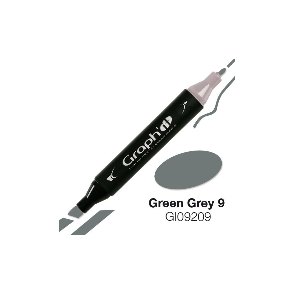 MARQUEUR GRAPH\'IT GREEN GREY 9 9209