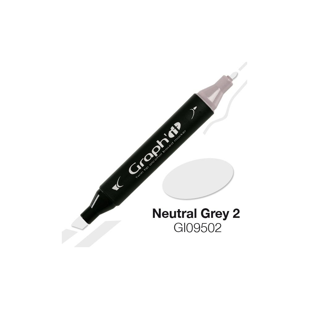 MARQUEUR GRAPH\'IT NATURAL GREY 2 9502