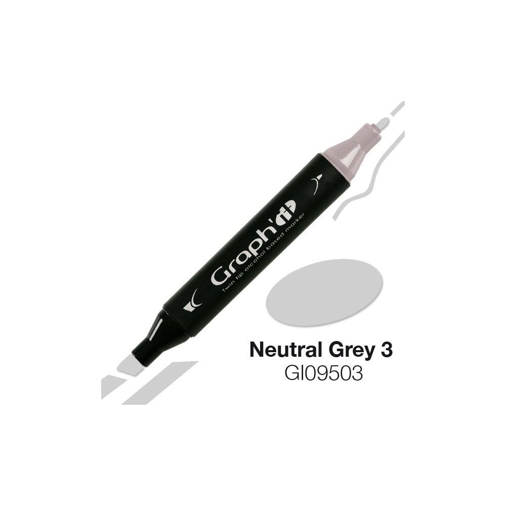 MARQUEUR GRAPH\'IT NATURAL GREY 3 9503