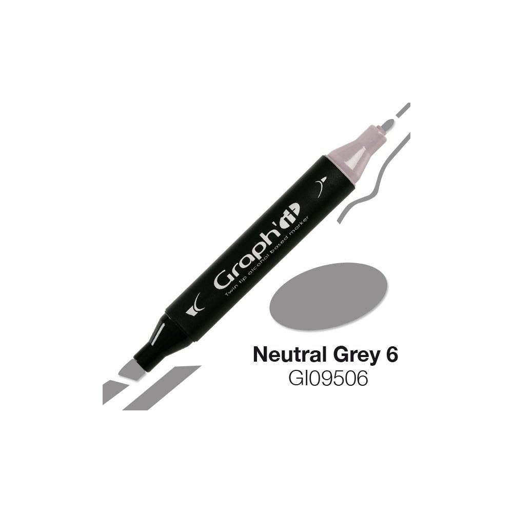 MARQUEUR GRAPH\'IT NATURAL GREY 6 9506