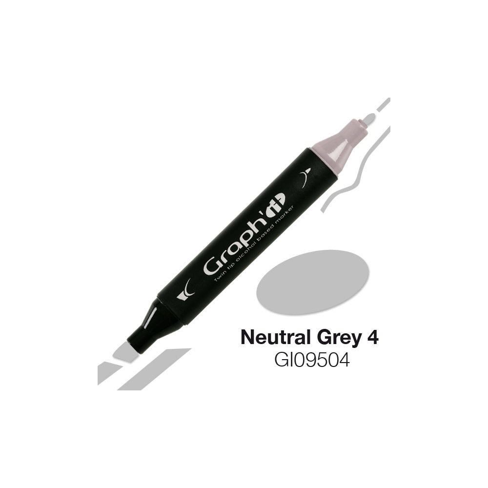 MARQUEUR GRAPH\'IT NEUTRAL GREY 4 9504