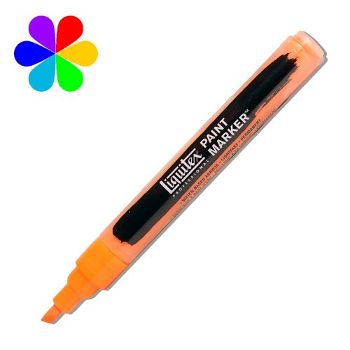 MARQUEUR LIQUITEX POINTE FINE ORANGE FLUO