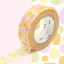 MASKING TAPE MOTIF PAVES RONDS ORANGE