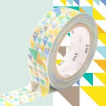 MASKING TAPE MOTIF TRIANGLES BLEU
