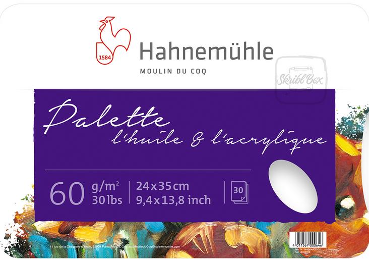 """PALETTE PAPIER \"""" L\'Huile & l\'Acrylique\""""  24X35 CM 30 FEUILLES"""