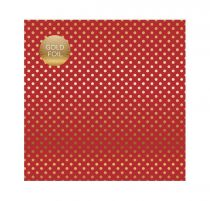 PAPIER A POIS GOLD FOIL DOT DARK RED juin19