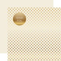PAPIER A POIS GOLD FOIL DOT IVORY juin19