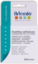 PASTILLES ADHESIVES TRANSPARENTES 300*3MM