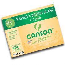 "POCHETTE \""C\"" A GRAIN CANSON 24X32CM 224 GR"