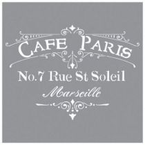 POCHOIR CAFE PARIS